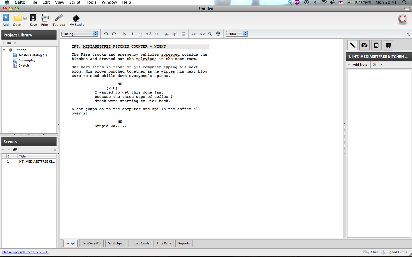 script writing software download